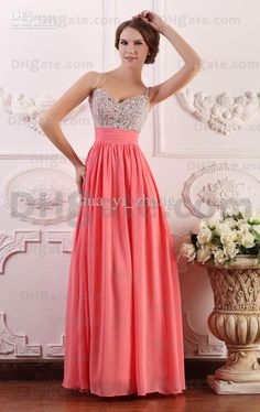 Wholesale 2013 Beaded Covered Bra Evening Dresses Pleated Floor Length Sleeveless Spaghetti BY072, Free shipping, $85.02-96.76/Piece   DHgate