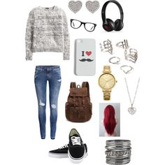 A fashion look from February 2015 featuring H&M sweaters, H&M jeans and Vans sneakers. Browse and shop related looks.