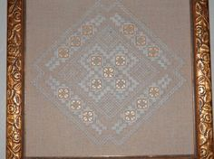 Another hardanger piece I did for my mother.