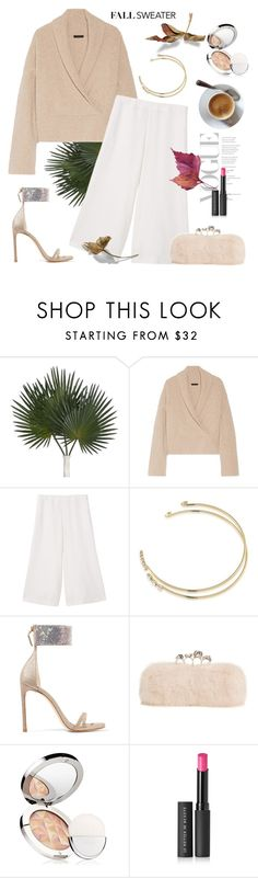 """Fall Sweater"" by rever-de-paris ❤ liked on Polyvore featuring The Row, MANGO, ABS by Allen Schwartz, Stuart Weitzman, Alexander McQueen, La Mer and Le Métier de Beauté"
