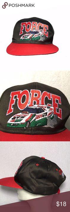 Vintage John Force Drag Racing Snapback Hat New New old stock from early  1990s. John 6c982da4b322
