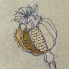 A little machine embroidery lesson… Contemporary Embroidery, Modern Embroidery, Embroidery Hoop Art, Hand Embroidery Designs, Creative Embroidery, Applique Designs, Freehand Machine Embroidery, Free Motion Embroidery, Free Machine Embroidery