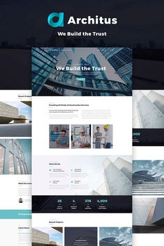 Check out the demo of the Architus - Construction WordPress Theme ( to find out what this design is before you decide to buy it. View the pages, examine the images, press the buttons, explor Login Web, Admin Login, Sites Layout, Pag Web, Site Inspiration, Modern Website, Wordpress Template, Wordpress Admin, Wordpress Demo