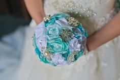 Brautstrauß *aqua* von MY bouquet auf DaWanda.com