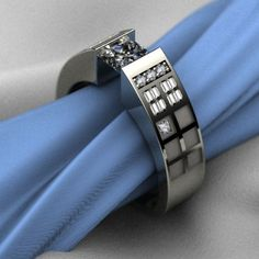 This TARDIS ring is so tasteful that it could pass as a regular engagement ring.