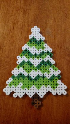 Items similar to Christmas Tree Evergreen Perler Beads Magnet on Etsy Melty Bead Patterns, Pearler Bead Patterns, Perler Patterns, Beading Patterns, Bracelet Patterns, Loom Patterns, Art Patterns, Mosaic Patterns, Embroidery Patterns