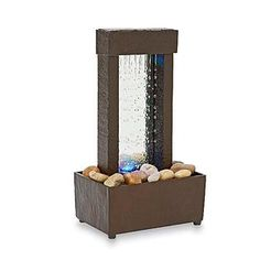 Indoor Tabletop Water Fountain Mini Desk Waterfall Tranquil Home Decor Gift Dimensions: x x Features LED lights. Indoor Tabletop Water Fountain, Indoor Water Fountains, Desk Fountain, Fountain Ideas, Fountain Design, Waterfall Lights, Mini Waterfall, Homemade Waterfall, Feng Shui