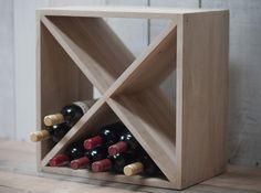 A stylish, modern Raw Oak Wine Rack from Garden Trading Oak Wine Rack, Wine Cellar Racks, Wine Rack Cabinet, Wine Cellars, Wine Shelves, Wine Storage, Diy Interior, Home Interior Design, Furniture Projects