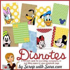 Free Disney Journaling Cards by gusahkose