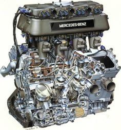 Presenting our greatest Tony Matthews cutaway yet: the most famous engine in Indy 500 history, the 1994 Mercedes-Ilmor pushrod Corvette Zr1, Motor Radial, V Force, Automobile, Daimler Ag, Race Engines, Combustion Engine, Car Engine, Engine Block