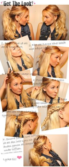 get the look ponytail braid, wrong language but awesome ponytail.