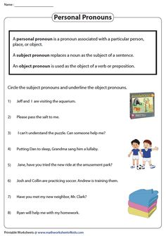 Identifying Subject and Object Pronouns