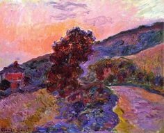 1886 Claude Monet - Sunset at Giverny (private collection)