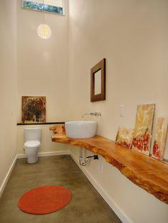 Einen Waschtisch aus Holz für Aufsatzwaschbecken bauen