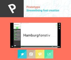 Prototypo est une webapp qui permet en quelques clics de créer sa propre police de caractères