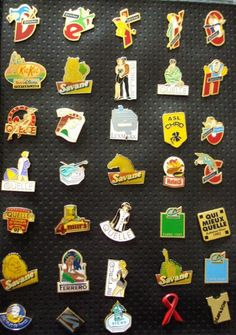 collection de pin's... Nostalgie!