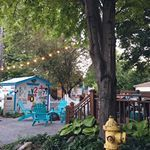 On the eve of the first day of school we have all the feels of summer coming to an end But fall is just around the bend and that means campfires in this little space So theres that patiofurniture adirondackchairs patiodecor shed campfire firehydrant vintagehome vintagelove backyarddesign shed