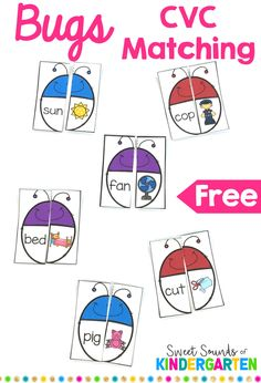 Fun CVC game for literacy centers or word work stations. Great way to teach stu… Fun CVC game for literacy centers or word work stations. Great way to teach students simple words and make them confident readers! Kindergarten Centers, Literacy Centers, Kindergarten Phonics, Kindergarten Reading Activities, Teaching Phonics, Cvc Worksheets, Word Work Stations, Reading Centers, Vestidos