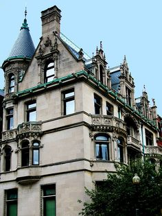 """Burrage House mansion :: When built for attorney Albert C. Burrage in 1899, it was considered an """"eyesore"""" and was the most controversial home in Boston!"""