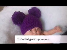 Gorro pompones a crochet