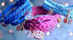 "DIY Wrap Braided Charm Bracelet ""DIY Bracelets"" - YouTube"