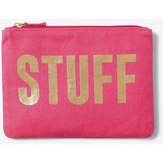 Express Stuff Glitter Pouch ($13) ❤ liked on Polyvore featuring beauty products, beauty accessories, bags & cases and pink