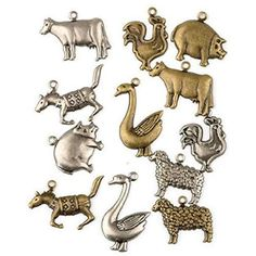 Online shopping from a great selection at Stationery & Office Supplies Store. Blockchain Game, Charms, Farm Animals, Stationery, Metal, Crafting, Sew, Amazon, Jewelry