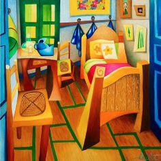 Philippe Loubat : La chambre à coucher, hommage à Vincent Van Gogh.