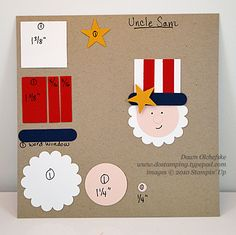 Uncle Sam Punch Art - DOstamping with Dawn, Stampin' Up! Paper Punch Art, Punch Art Cards, Patriotic Crafts, July Crafts, Birthday Scrapbook, Birthday Cards, Scrapbook Cards, Scrapbooking, Paper Piecing