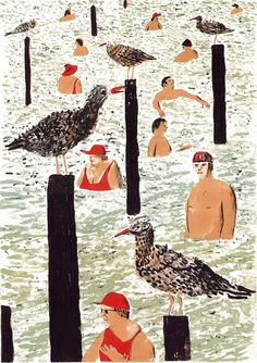 Matthew-booker_illustrator_seaside-and-seagulls