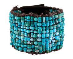 Beth Orduna - Woven Mixed Turquoise Bracelet in Designers Beth Orduna Bracelets at TWISTonline