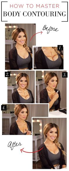 A quick and easy guide to body contouring … – 2019 – Make-Up Hacks Body Makeup, Skin Makeup, Beauty Makeup, Hair Beauty, Highlighter Makeup, Contour Makeup, Concealer, Body Contouring, Contouring And Highlighting