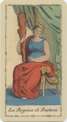 Queen of Wands from the Ancient Tarot of Lombardy