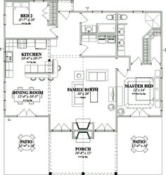 First Floor of Plan ID: 44490