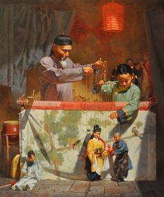 Jie Wei Zhou (b.1962) was born in Shanghai, China, and is a master realist painter whose brushwork is characterized by its Impressionistic qualities. Working in oil, watercolor, and acrylic, he has won numerous awards, and has exhibited widely in China and the United States.