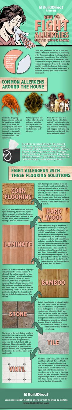 The best flooring guide for those suffering from allergies.