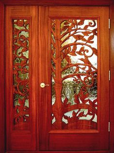 another tree design for front door with sidelight.  would not want the mirror