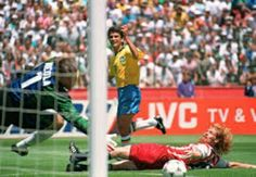 USA 0 Brazil 1 in 1994 in San Francisco. Bebeto scores the only goal on 72 minutes in Round 2 of the World Cup.