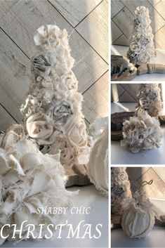 Budget friendly Christmas Decor idea. Learn how to make Christmas decor out of drop cloth. Vintage Christmas ornaments tree diy.Neutral color Christmas dIY Diy Christmas Decorations For Home, Easy Christmas Ornaments, How To Make Christmas Tree, Christmas Craft Projects, Farmhouse Christmas Decor, Christmas Colors, Christmas Home, Drop Cloth Projects, Budget Home Decorating