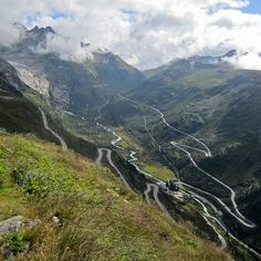 Motorbike tour, Furka pass, Switzerland.