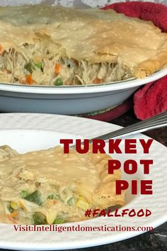 How to make Turkey Pot Pie using leftover turkey meat. This simple and easy recipe is comfort food in a casserole full of meat and vegetables. We use Crescent Rolls for the crust and leftover turkey. Variations of the recipe included. Save this for Thanksgiving and see our other Thanksgiving recipe ideas too.#leftovers #fallfood #potpie Leftover Chicken Recipes, Leftovers Recipes, Pork Recipes, Easy Recipes, Easy Meals, Dinner Recipes, Cooking Recipes, One Dish Dinners, One Pot Meals