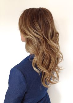 Soft blonde ombre or sombre with a loose romantic wave/curl.  Check out this website to see how I lost 19 pounds in one month