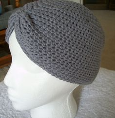 Free Crochet Turban Hat Pattern. Let me air out my inner old lady and wonder if I did this in cotton if it would work when I am plopping my hair.....