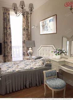 Декорирование спальни в серо-голубых тонах  http://www.ok-interiordesign.ru/blog/dekorirovanie-interyera-spalni-v-duhe-legkoy-klassiki.html