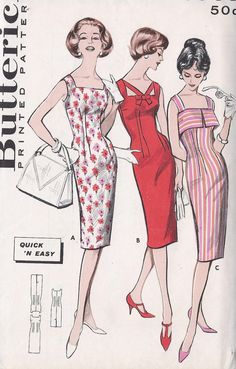 Vintage 1950's Wiggle Dress Pattern