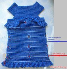Платья с оборками (воланами, рюшами) крючком