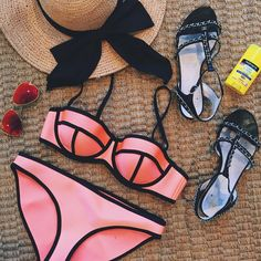 Triangl Bikini + Chanel Sandals
