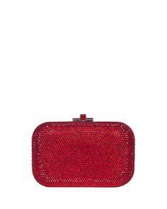 V2BED Judith Leiber Couture Crystal Slide-Lock Clutch Bag, Siam