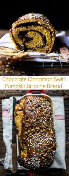 Chocolate Cinnamon Swirl Pumpkin Brioche Bread | halfbakedharvest.com @hbharvest