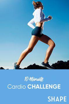 10 Minute Cardio Workout, Intense Cardio Workout, Beginner Workout At Home, Workout For Beginners, At Home Workouts, Cardio Workouts, Back Fat Workout, Workout For Flat Stomach, Belly Fat Workout